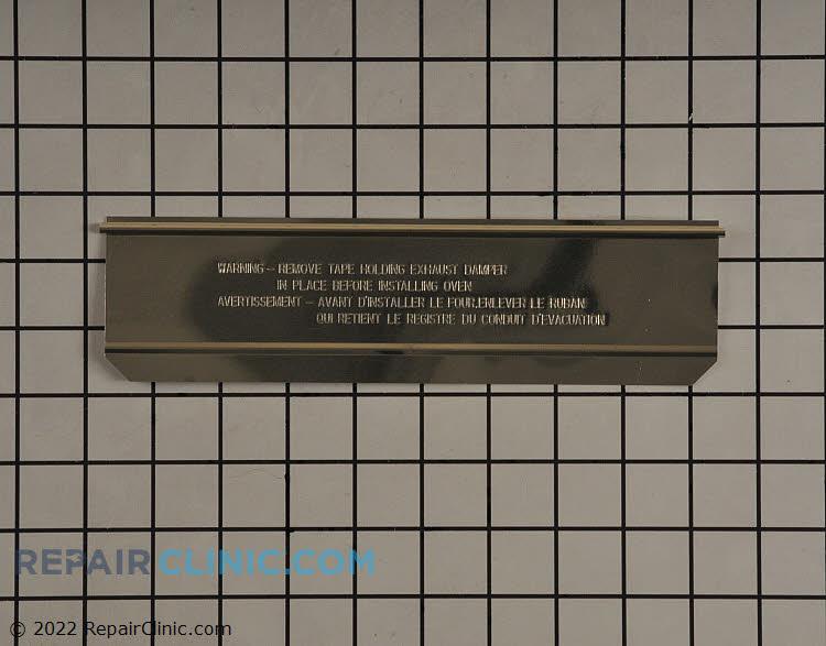 Exhaust adapter damper door