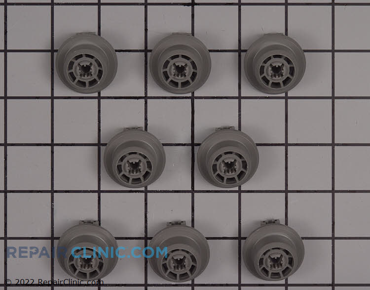 Dishrack rollers - set of 8