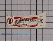 Label - Part # 2396440 Mfg Part # 777S34201