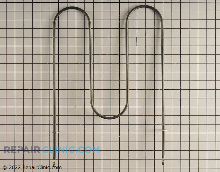 Oven broiler heating element with push-on terminals, 240 volts