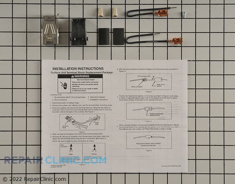 Stove top receptacle kit for electric stove surface elements. If the heating element operates intermittently then this terminal block or the elements terminals are likely corroded and both may need to be replaced.