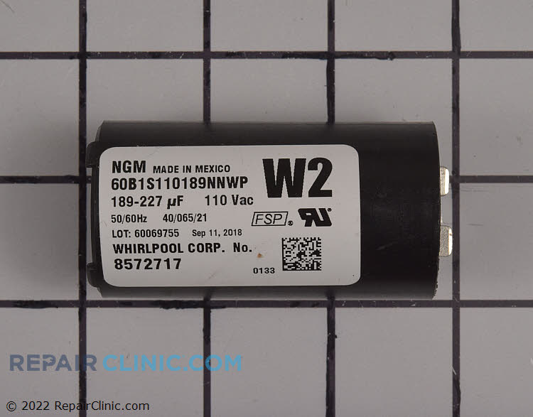 Start Capacitor WP482156 Alternate Product View