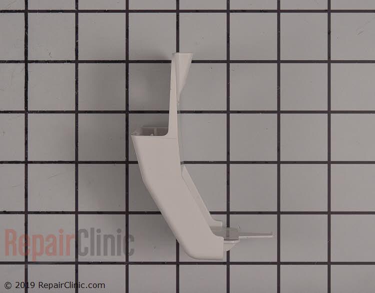 Refrigerator door shelf retainer bar endcap, white