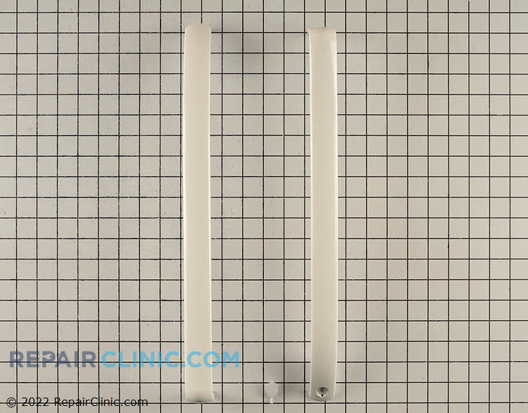 Refrigerator and freezer door handle kit with plug, white <br> These parts are not sold separately.