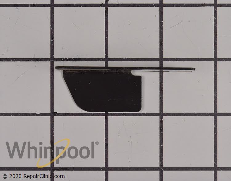 Bracket, door stop (black) W10185567       Alternate Product View