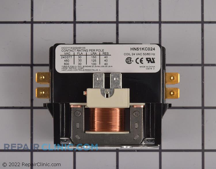 Contactor. 1 pole, 24 volts, 30 amps.