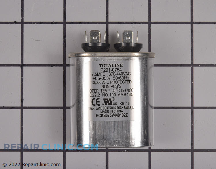 Single run capacitor 440V 7.5 mfd