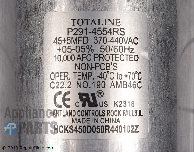 Dual Run Capacitor 1185330 Alternate Product View