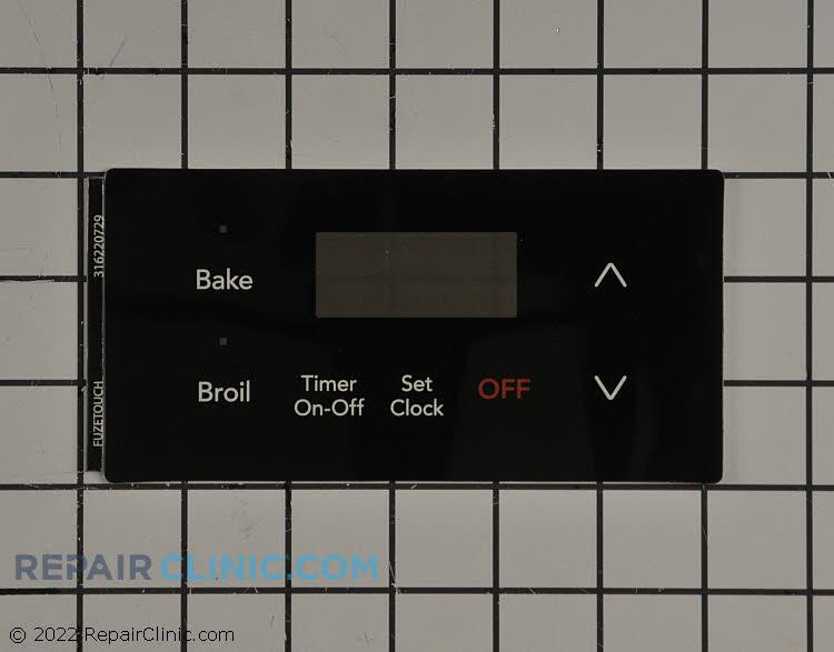 Clock overlay, black. Clock control sold seperately