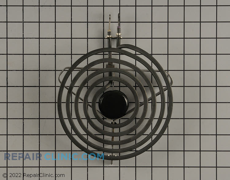 "8"" diameter electric surface element with looped terminal ends, 5 turn"