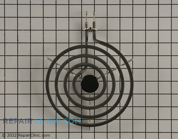 """8"""" diameter plug-in electric surface element with looped terminal ends, 4 turn"""