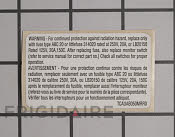 Label - Part # 1063071 Mfg Part # 5304440334