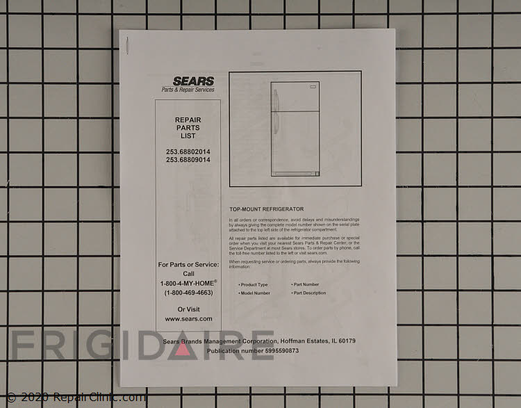 Parts Catalog 5995590873 Alternate Product View