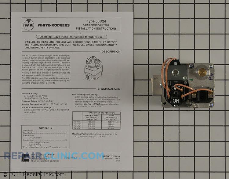 Valve; gas, redundant .50 x .75 npt, negative press