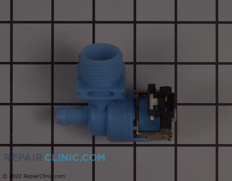 Dishwasher water inlet valve-- White plug connector can be removed   for the dishwasher wiring to connect in some applications