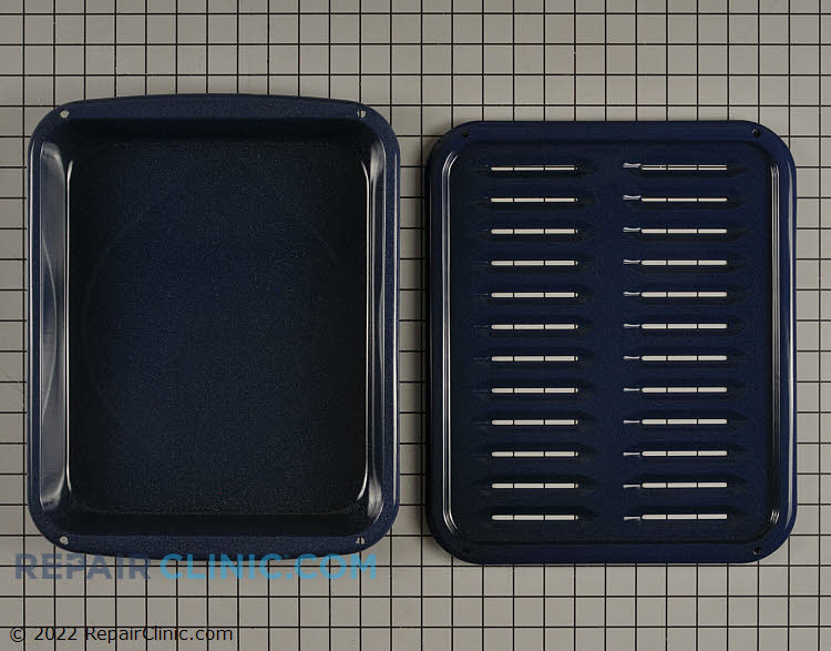 Broiler pan & insert.  Comes as colbalt blue now.