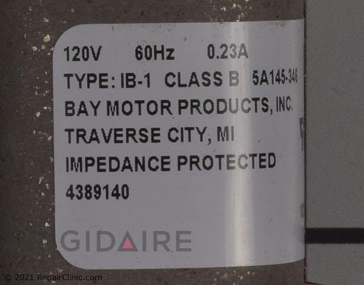 Evaporator Fan Motor 482731 Alternate Product View